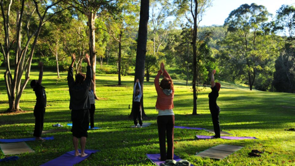 Outdoor Power Yoga clinic