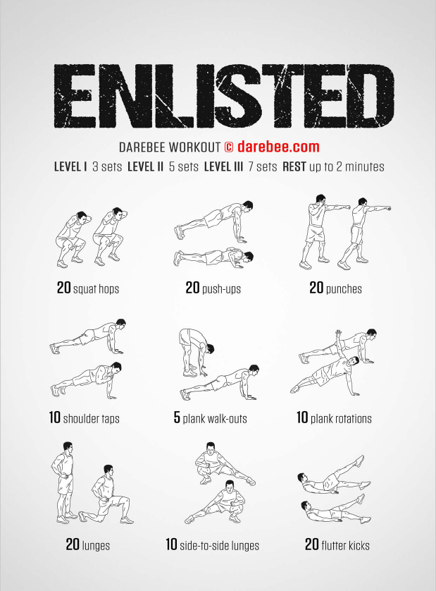 Enlisted workout