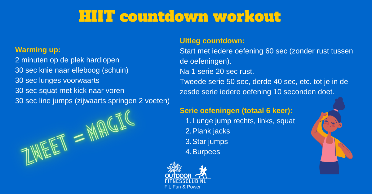 HIIT countdown workout